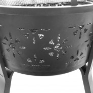 Morroc Fire Pit & BBQ Grill With Rain Cover by Fire & Dine  12