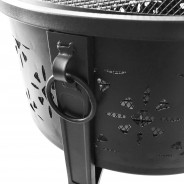 Morroc Fire Pit & BBQ Grill With Rain Cover by Fire & Dine  11