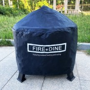 Morroc Fire Pit & BBQ Grill With Rain Cover by Fire & Dine  3 Free Waterproof Cover