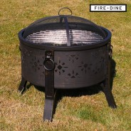 Morroc Fire Pit & BBQ Grill With Rain Cover by Fire & Dine  6