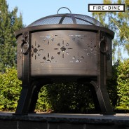 Morroc Fire Pit & BBQ Grill With Rain Cover by Fire & Dine  8