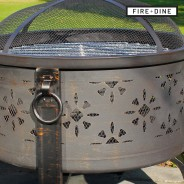 Morroc Fire Pit & BBQ Grill With Rain Cover by Fire & Dine  4