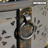 Morroc Fire Pit & BBQ Grill With Rain Cover by Fire & Dine  5
