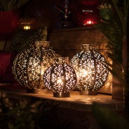Morocco Globe Lantern 1 Two sizes available (Small and Medium)