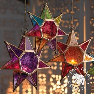 Moroccan Style Star Glass Lantern 5