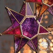 Moroccan Style Star Glass Lantern 2