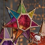 Moroccan Style Star Glass Lantern 3