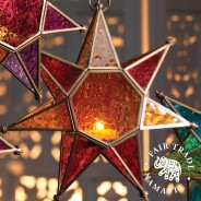 Moroccan Style Star Glass Lantern 4
