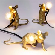 Seletti Gold Mouse Lamp 1