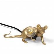 Seletti Gold Mouse Lamp 3 Lie Down