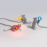 Seletti Grey Mouse Lamp 1