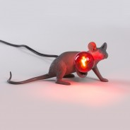 Seletti Grey Mouse Lamp 4 Lie Down Mouse