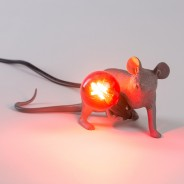 Seletti Grey Mouse Lamp 7 Lie Down Mouse