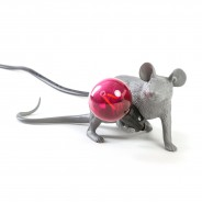 Seletti Grey Mouse Lamp 10 Lie Down Mouse