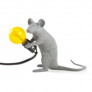 Seletti Grey Mouse Lamp 11 Sitting Mouse