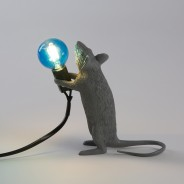 Seletti Grey Mouse Lamp 6 Standing Mouse