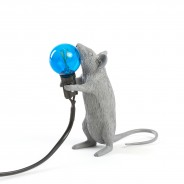 Seletti Grey Mouse Lamp 9 Standing Mouse