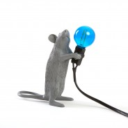 Seletti Grey Mouse Lamp 12 Standing Mouse