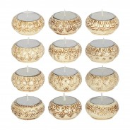 Natural Cream Indian Tealight Holders 1 Single candle supplied
