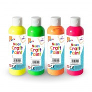 Neon Craft Paint for Finger Painting (4 pack) 1