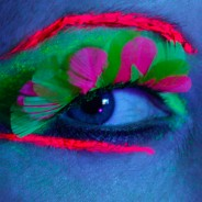 Neon Feather Eyelashes 1