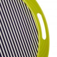 Neon Green Stripe Tray 3