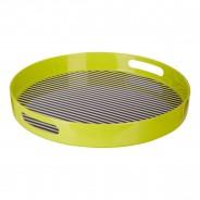 Neon Green Stripe Tray 1