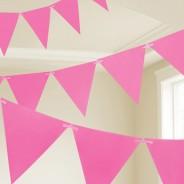 Neon Paper Bunting 4.5m 3 Neon Pink