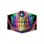 Character Washable Face Masks 3 Neon Teeth
