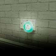 Plug Through Night Light 3 Green