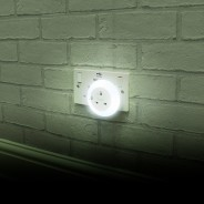 Plug Through Night Light 1 White