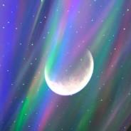 Northern Lights Aurora Moon & Star Projector and Speaker 10