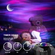 Northern Lights Aurora Moon & Star Projector and Speaker 4