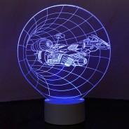 Optical Illusion 3D Spaceship Lamp 1