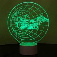 Optical Illusion 3D Spaceship Lamp 2