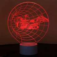 Optical Illusion 3D Spaceship Lamp 3