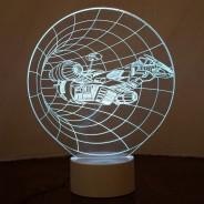 Optical Illusion 3D Spaceship Lamp 6