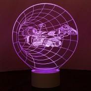 Optical Illusion 3D Spaceship Lamp 4