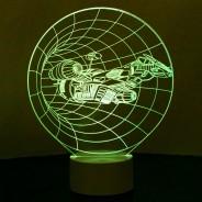 Optical Illusion 3D Spaceship Lamp 5