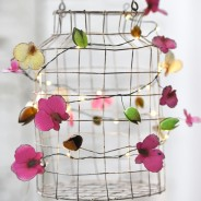 Orchid Metal Floral Fairy Lights 5