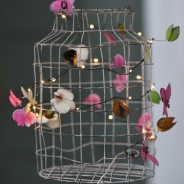 Orchid Metal Floral Fairy Lights 6