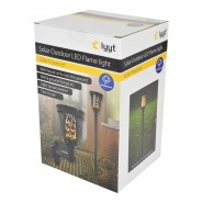 Solar Wall or Ground Flame Lamp 4