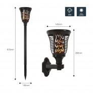 Solar Wall or Ground Flame Lamp 3