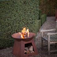 Oxidised Fire Bowl & Woodstore (FF169) 3
