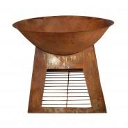 Oxidised Fire Bowl & Woodstore (FF169) 5