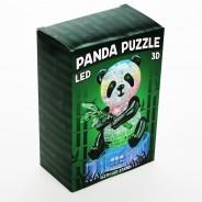 3D Panda Puzzle with LED Base 2