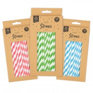 50 x Bright Paper Straws 1 Colours will be chosen at random unless specified