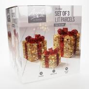 Light Up Christmas Parcels (3 Pack) 3