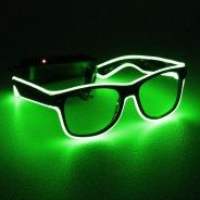 Light Up Party Fun Glasses 4 Green