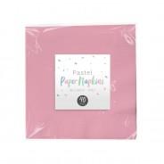 Pastel Paper Tableware 3 Pink napkins